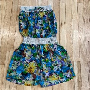 NWT INDERO floral romper with pockets MED